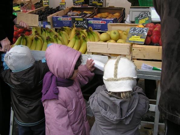 Parcours DD sur l'alimentation : visite du marché